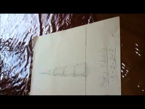 DRAWING BURJ KHALIFA رسمة برج خليفة Music Videos