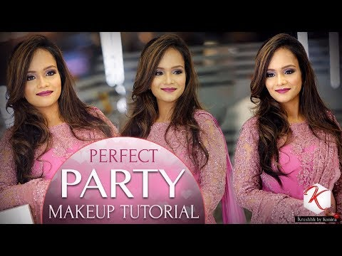 Party Makeup Tutorial | Step by Step Face Makeup | Glittery Eye Makeup Video | Krushhh by Konica