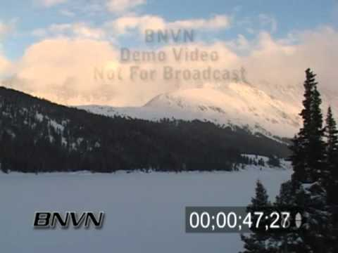 2/8/2004 Time-lapse Winter Mountain Video