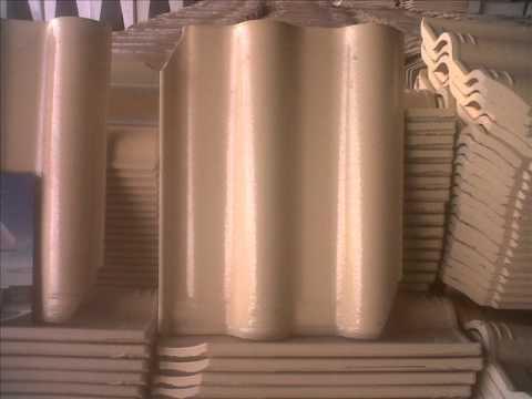 Telha ceramica esmaltada