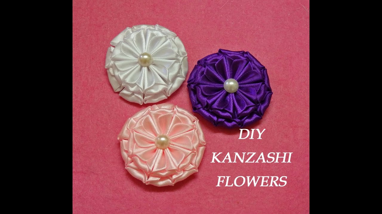 How to make a bow how to instructions - Diy Kanzashi Flowers Kanzashi Tutorial How To Make Easy