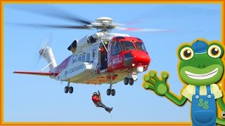 Rescue Helicopters For Children | Gecko's Real Vehicles