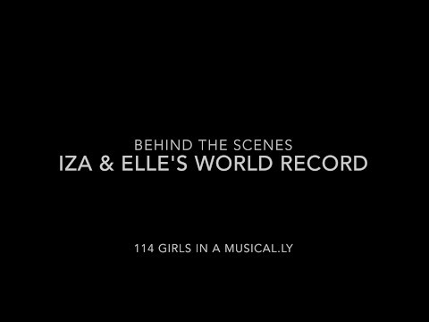 Behind the scenes - Iza & Elle's world record, 114 girls in a musical.ly
