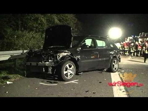 Unfall auf A4 Olpe in Fahrtrichtung Siegen komplett gesperrt