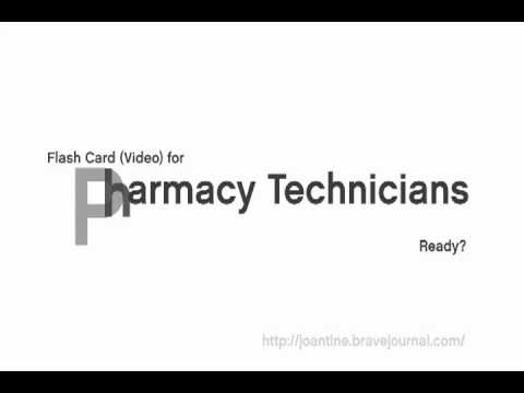 Pharmacy Technician flashcards - part 1