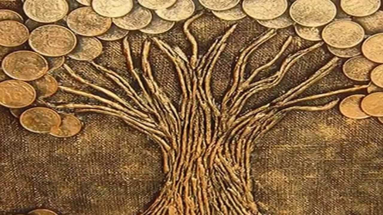Картина денежное дерево из монет своими руками мастер 14