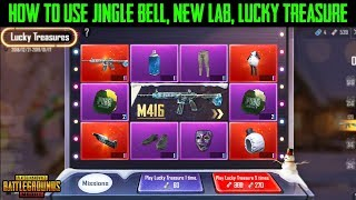 PUBG Mobile How to Use JINGLE BELL | The LAB | LUCKY TREASURES - PUBG Mobile New EVENT !!!