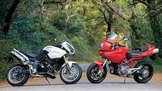 Ducati Multistrada 1100 vs. Triumph Tiger 1050 Universal Non-Japanese Motorcycles