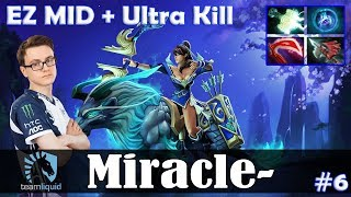 Miracle - Mirana EZ MID | Ultra Kill | Dota 2 Pro MMR Gameplay #6