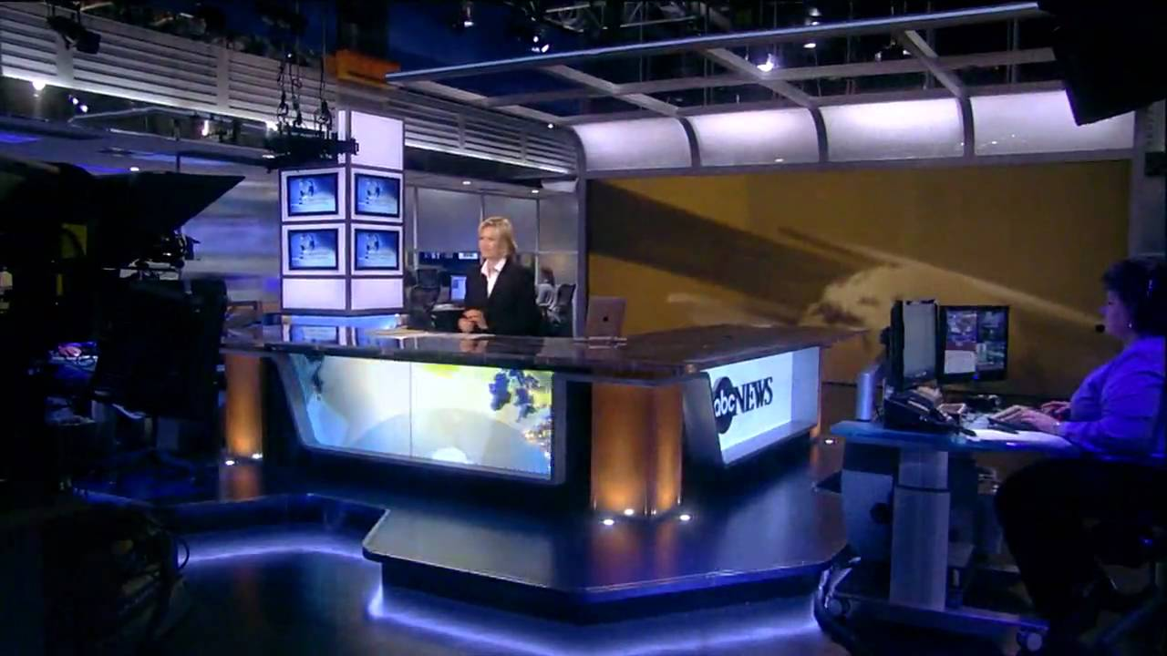 ABC News new anchor desk & set