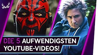 Die 5 AUFWENDIGSTEN YouTube-Videos! | TOP 5