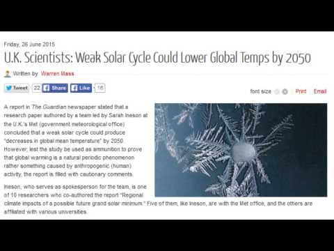 U.K. Scientists: Weak Solar Cycle Could Lower Global Temps by 2050