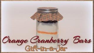 Orange Cranberry Bars Gift-in-a-Jar