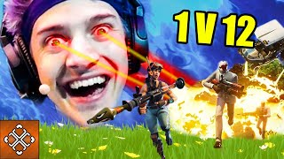 Ninja 1 VS 12 Clutch Victory Royale Win | Fortnite Clutch Moments Compilation