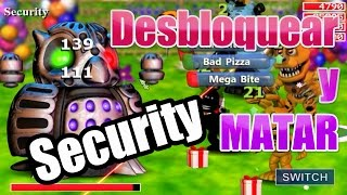 Como Desbloquear y Matar a Security | Final Alterno 3 | FNAF WORLD