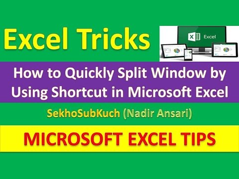 How to Quickly Split Window by Using Shortcut in Microsoft Excel : Excel Tricks [Urdu / Hindi]