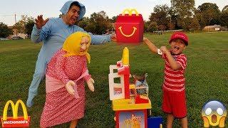 Greedy Granny Stole My Happy Meal | Kids Pretend Play Toy Kitchen Set