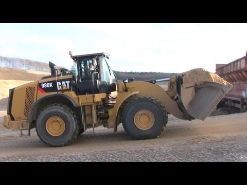 Cat 980K Working In A Gravel Pit