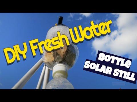 DIY fresh water - free solar soda bottle still easy quick to make