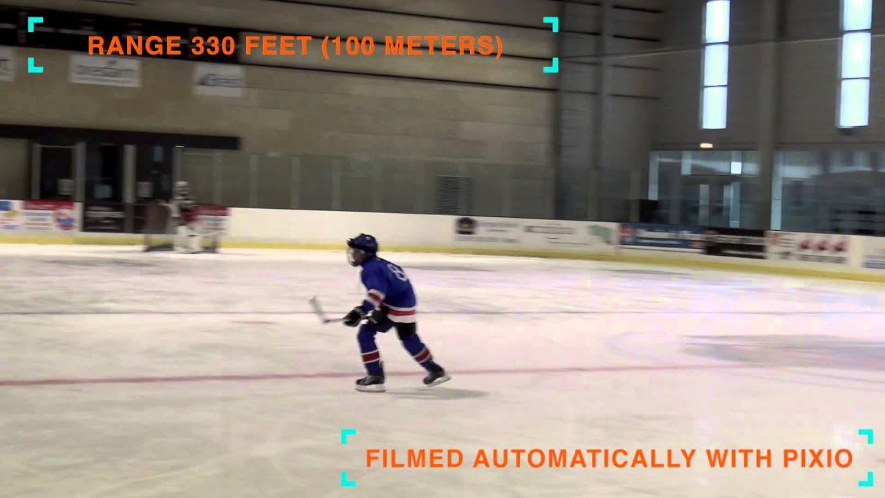 Indoor hockey filmed by the pixio robot hockey board for Xyz motors grand rapids