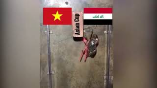 'Cua tiên tri' bị luộc vì chọn Iraq thắng Việt Nam