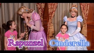 Cammi Meeting Cinderella and Rapunzel at Princess Fairytale Hall Disney