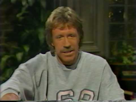 Chuck Norris and David Brenner on Nightlife talk show