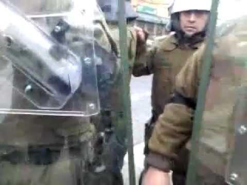 Carabineros de Chile trata de detenerme por grabarlos, Puerto Montt, 8 de Agosto 2012