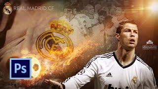 Tutorial Photoshop | Wallpaper Real Madrid (Cristiano Ronaldo)