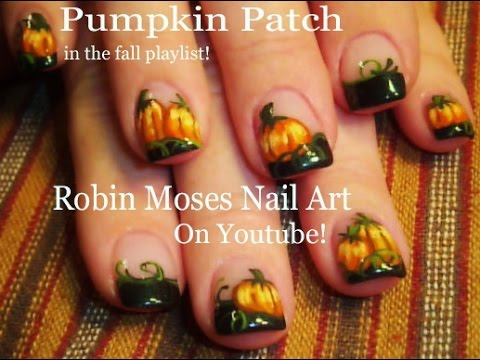 Pumpkin Patch Nail Art