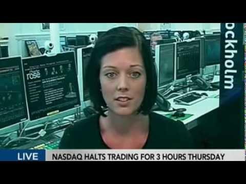Veronica Augustsson in Bloomberg TV interview on Nasdaq trading halt