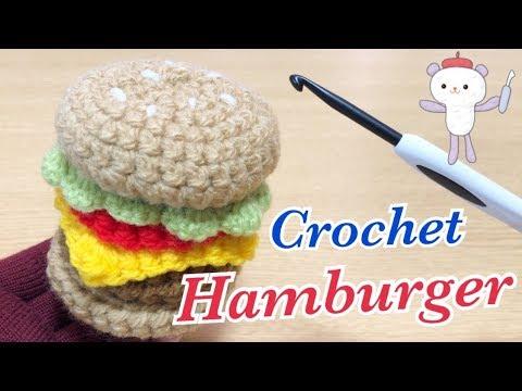 手作りおままごと♪編み物でハンバーガーやポテトにお弁当作り☆