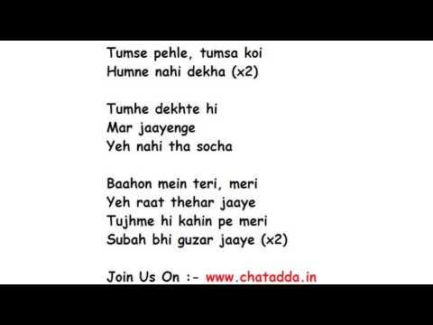 Dil Mein Chhupa Loonga Lyrics Full Song Lyrics Movie - Wajha Tum Ho