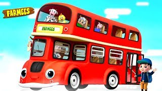 Ride on the Bus | Nursery Rhymes & Children Songs | Cartoons by Farmees