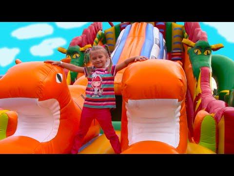 Развлекательный Центр для Детей с БАТУТАМИ и Горками   Indoor Playground for Kids