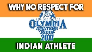 Why No Respect For Indian Athlete