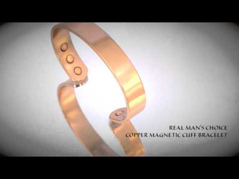 Real Man's Choice Solid Copper Magnetic Therapy Cuff Bracelet
