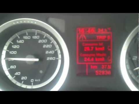 Alfa Romeo 159 2.0 JTDm 170cv consumi istantanei a velocità 80/90km/h (consumption)