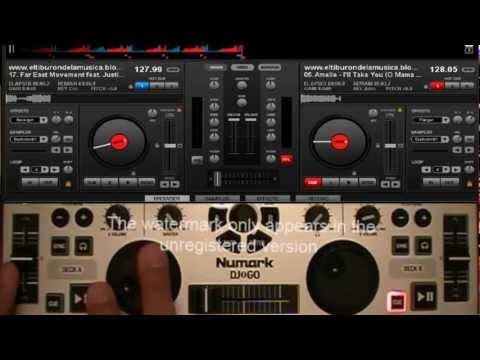 Numark DJ2GO Remapeado en virtual dj y traktor