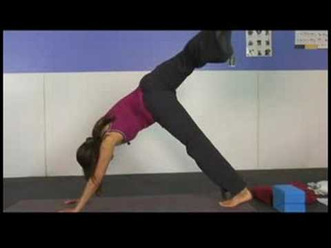 Standing Yoga Poses & Stretches : Advanced Downward Facing Dog Yoga Pose