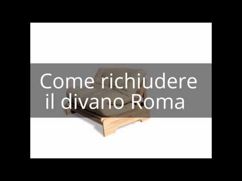 """How to open and close """"Roma"""" Couch"""