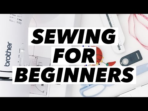 Sewing for Beginners! (Machine Review. Shopping Tips. Basic Supplies. and How to Start!)   WITHWENDY