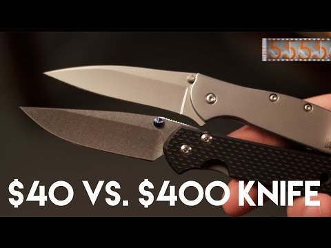 $40 vs. $400 Knife: What's the Difference? Kershaw Leek & Chris Reeve Sebenza Knife Art 21