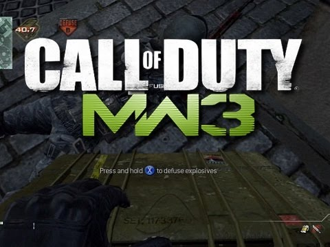MW3 Best Ninja Defuse Ever (Funny MW3 Multiplayer Gameplay Moments)