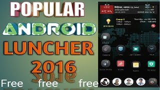 popular android luncher best design and free download