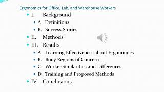 3 slide Ergonomics for Office, Lab, and Warehouse Workers Cooper