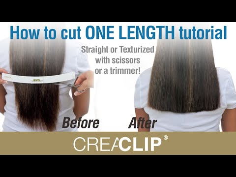 All Hair Cutting : How to cut ONE LENGTH tutorial- Straight or Texturized with scissors ...