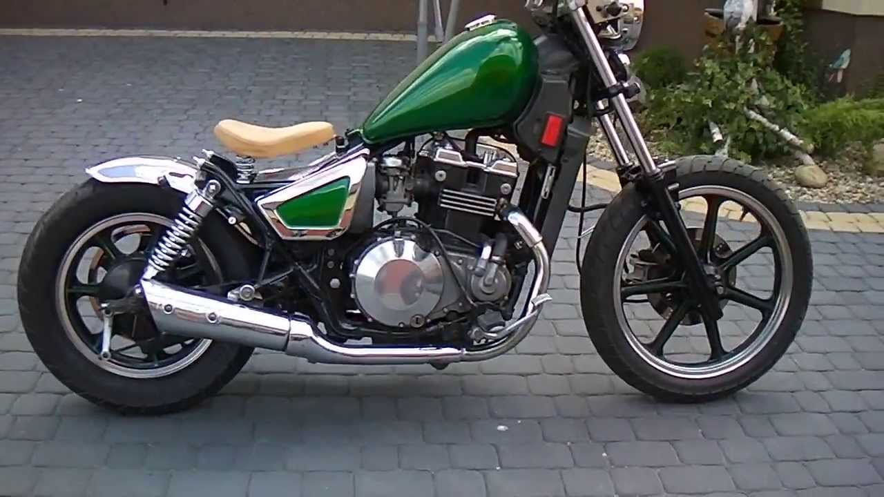 Old School Kawasaki Bobber