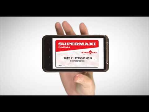 Aplicación móvil Supermaxi - Tarjeta virtual