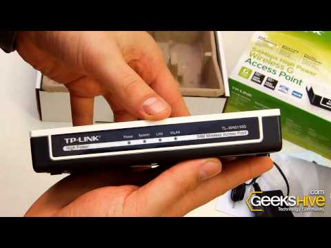 54Mbps High Power Wireless Access Point TL-WA5110G TP-Link - Unboxing by www.geekshive.com